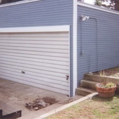 Garage Siding Before and After